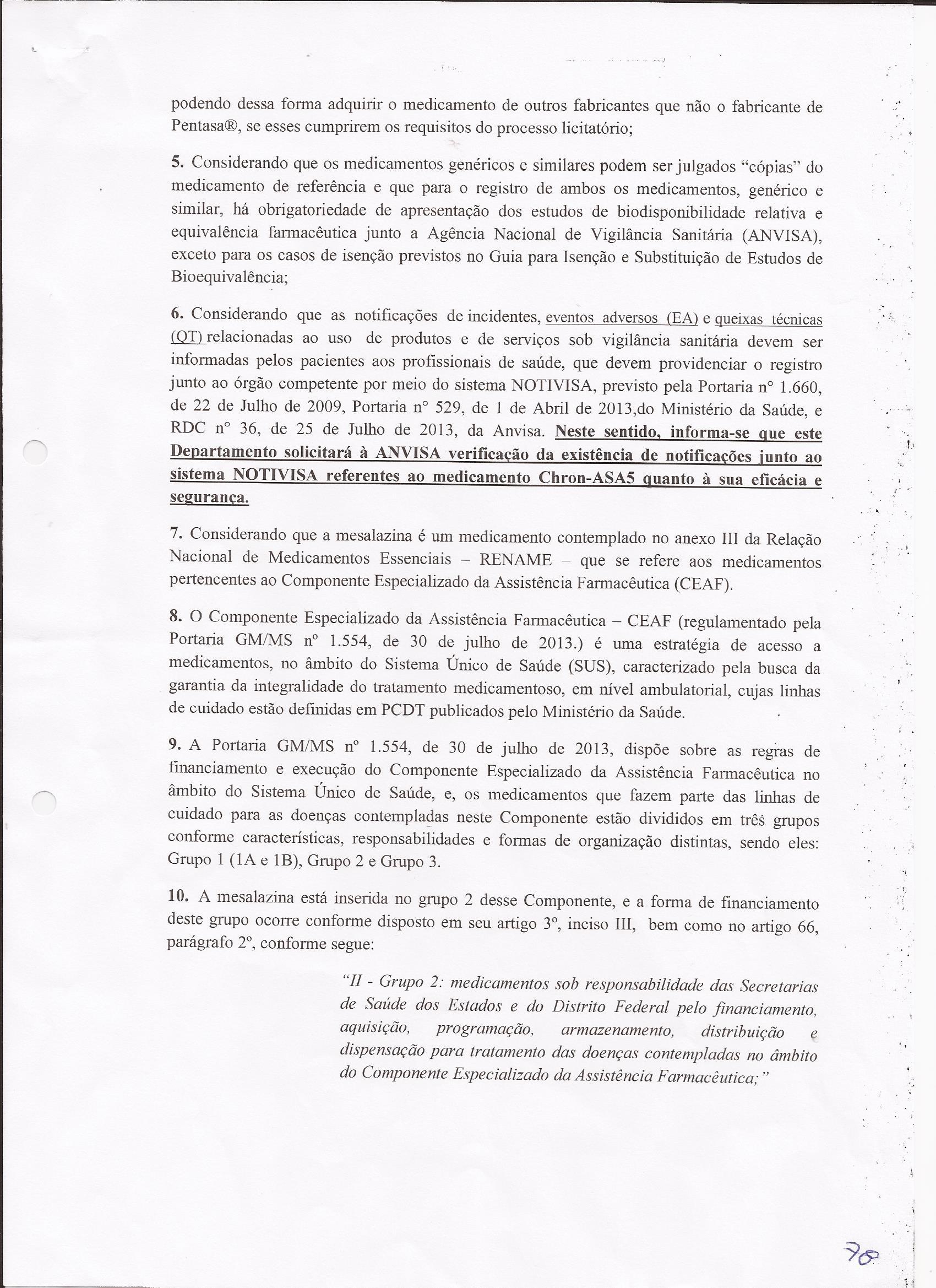Carta resposta Ministério da Saúde sobre dispensação da Mesalaz0003
