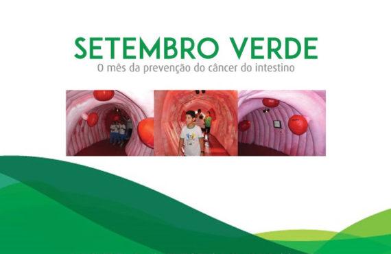 Campanha SETEMBRO VERDE convida a população a assumir o compromisso de luta contra o câncer de intestino