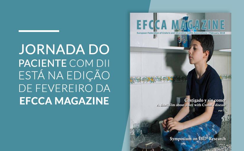 Jornada do Paciente com DII está na edição de Fevereiro da EFCCA Magazine