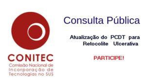 Consulta Pública para atualização do PCDT Retocolite Ulcerativa, este é o momento de participar!