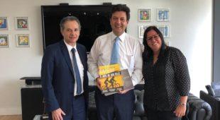 Ministro da Saúde Sr. Luiz Henrique Mandetta  recebe  a ABCD para  os Projetos da DII no Brasil